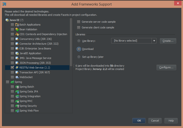 RESTful Web Services(JAX-RS) in JavaEE with IntelliJ IDEA