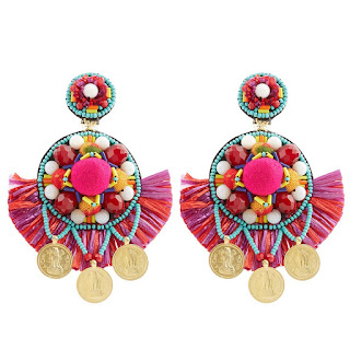Make a splash in these statement earrings - Multi Pom Pom Earrings - Rajana Khan - Jewellery Summer Holiday