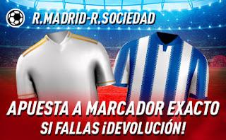 sportium Promo Real Madrid vs Real Sociedad 6 febrero 2020