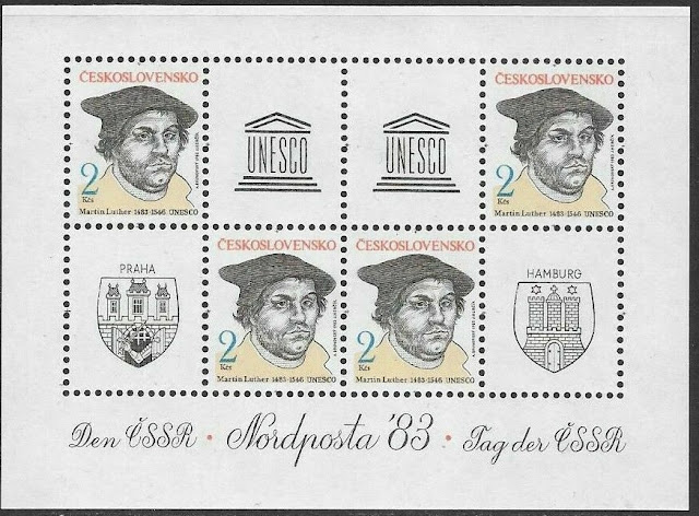 Czechoslovakia - 1983 Celebrities Anniversaries - Martin Luther
