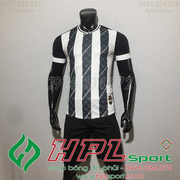 Áo bóng đá ko logo Cp HuB màu trắng
