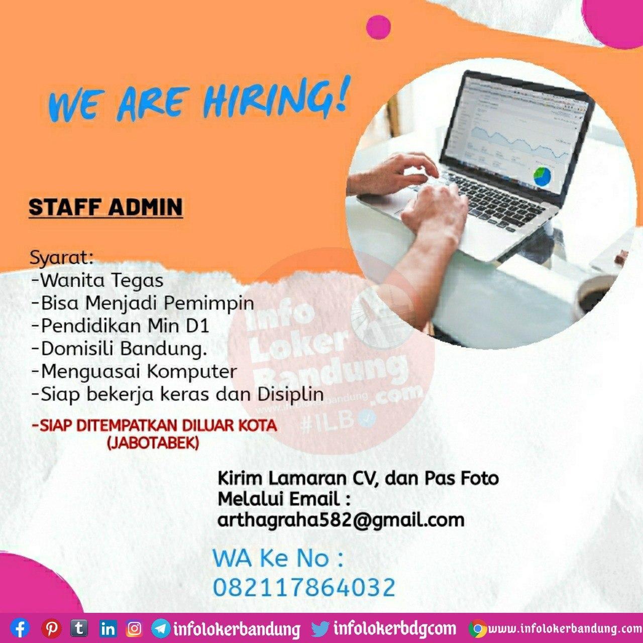 Lowongan Kerja CV. Artha Graha Bandung Oktober 2020