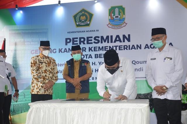 Menteri Agama Resmikan Gedung Baru Kantor Kemenag Kota Bekasi