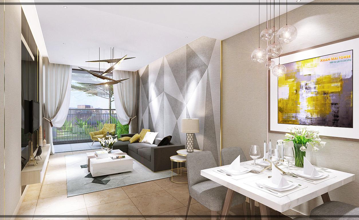 Phòng khách căn hộ Xuân Mai Tower Thanh Hoá