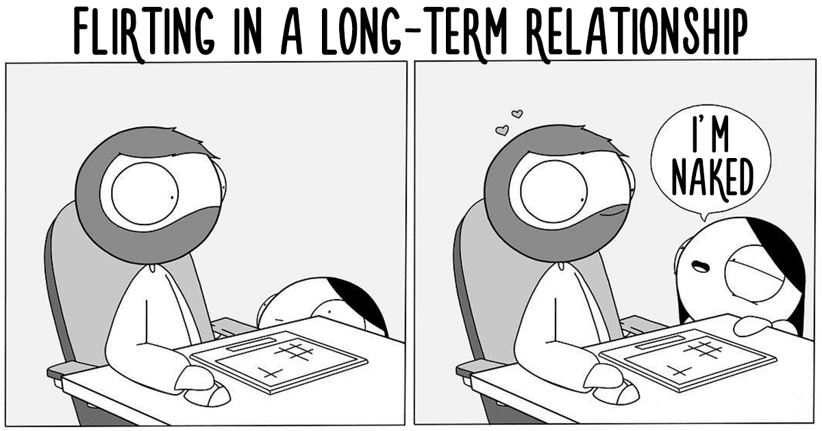 Girlfriend Draws Adorable Comics About Her Relationship. When Her Boyfriend Posts Them Online, They Go Viral
