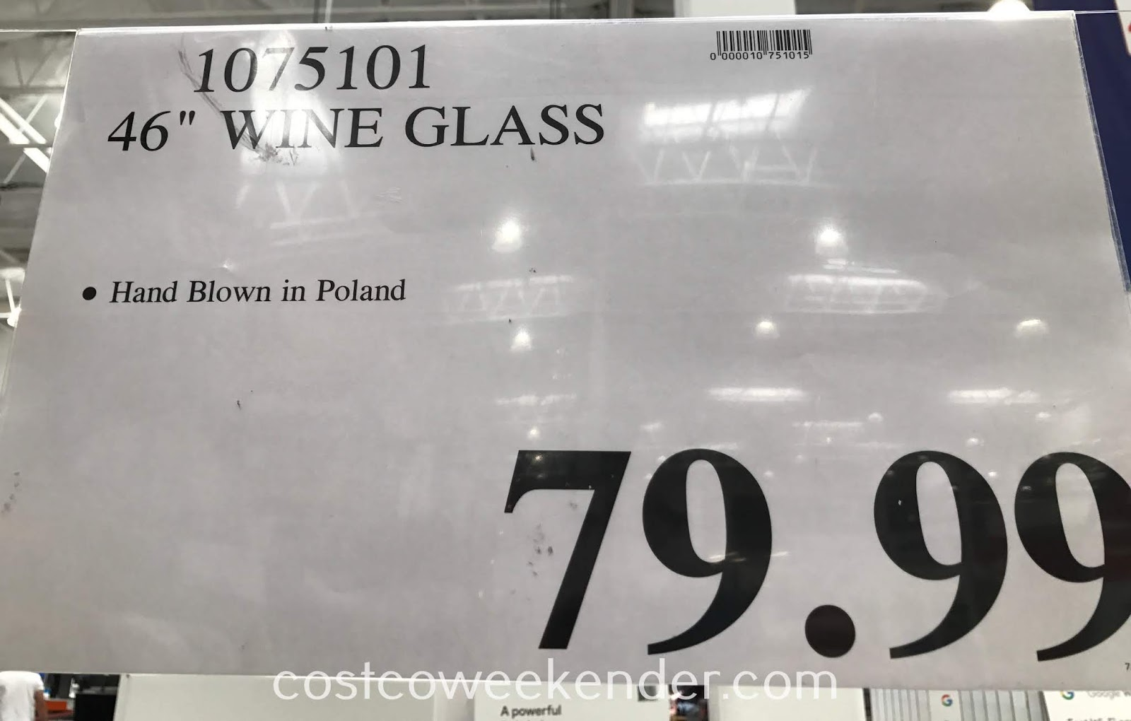 Costco 1075101 - Deal for the 46in Wine Glass at Costco