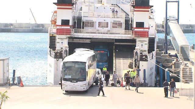 ضبط كمية من المخدرات على مثن حافلة للنقل الدولي في ميناء طنجة المتوسطي.