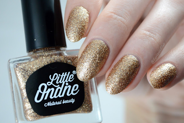 glitter peel off little ondine copper spark swatch furious filer