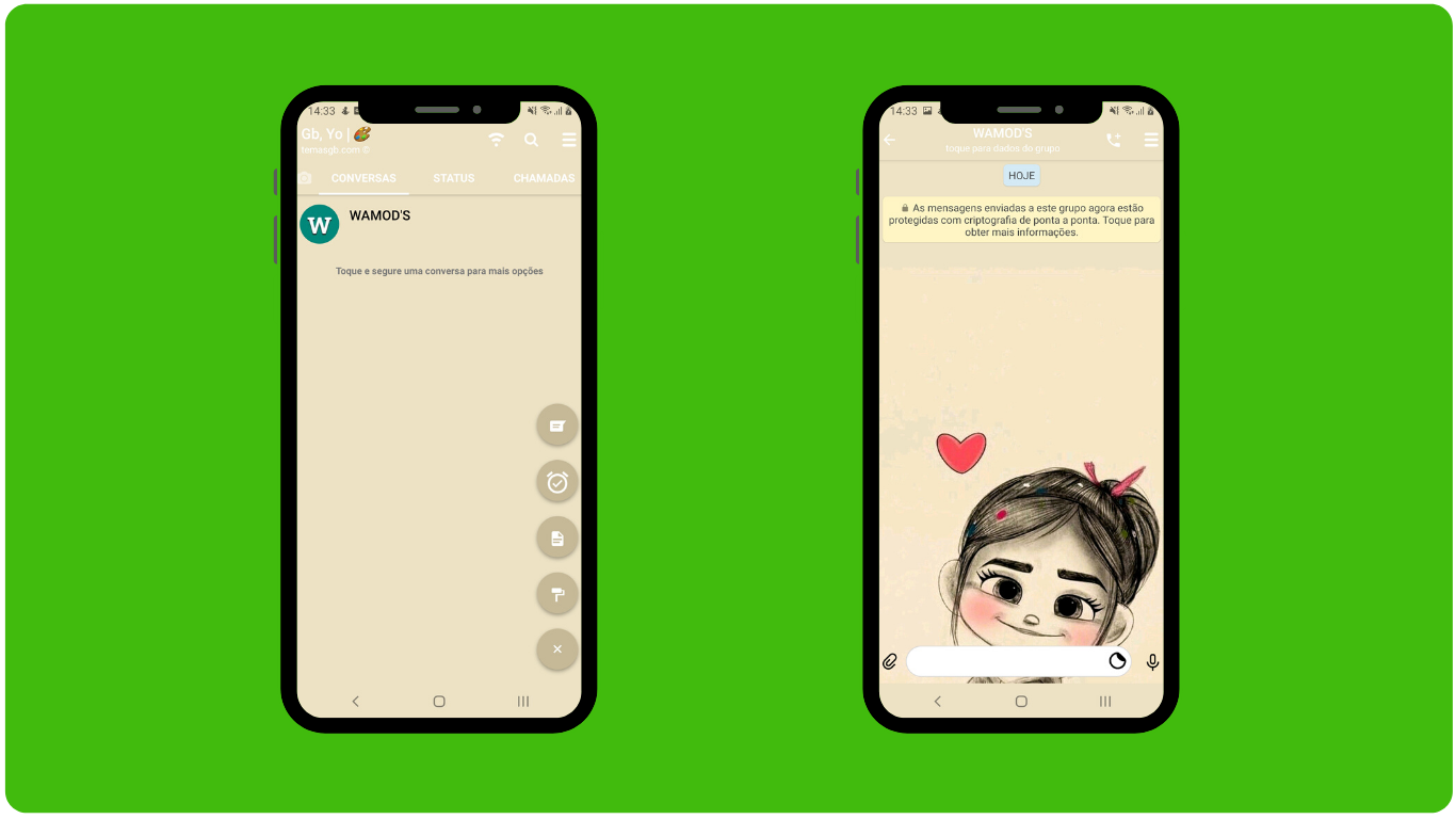 THEME WHATSAPP (GB, YO) - GIRL HEART BROWN