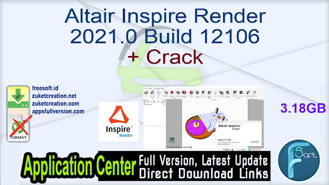 Altair Inspire Render 2021.0 Build 12106 + Crack