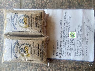 Benih padi TRISAKTI NEW   Pesanan HUMAIDI Seruyan, Kalteng.  (Sebelum packing)