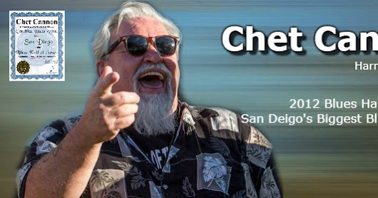 Award Winning Blues Artist Chet Cannon at Bobby's by the Sea on Sunday August 19 at 2PM.
