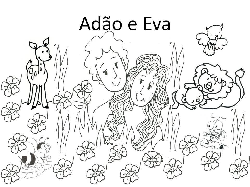 Evangeliza Adao E Eva Para Colorir Paraiso Para Colorir