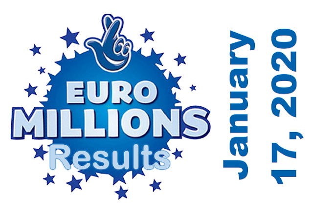 EuroMillions Results for Friday, January 17, 2020