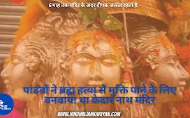 पांडवों ने ब्रह्म हत्या से मुक्ति पाने के लिए बनवाया था केदार नाथ मंदिर Kedarnath Temple Facts