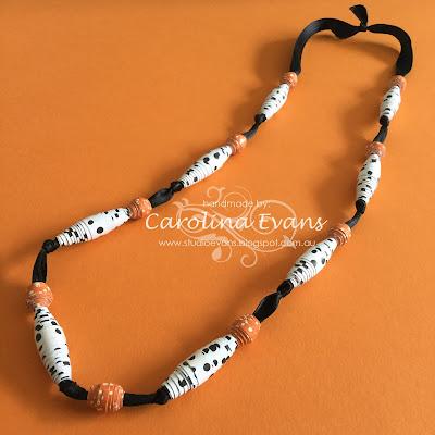 Carolina Evans Stampin' Up! Tangelo Twist Stampin Friends Blog Hop, Paper Beads