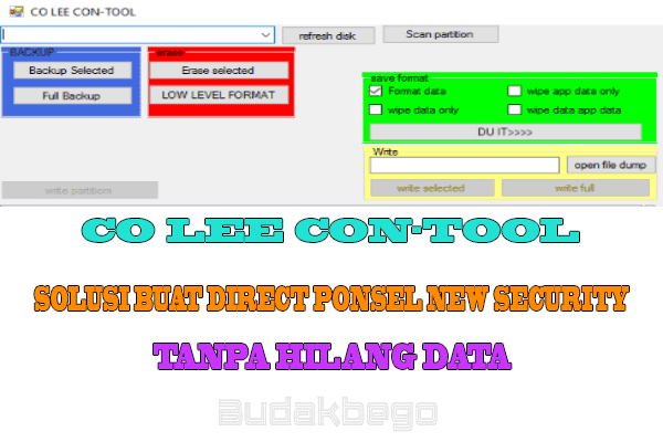 CO LEE CON-Tool Solusi Buat Direct Ponsel New Security