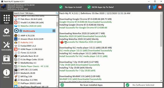 أفضل برامج الكبيوتر برنامج Patch My Pc تحديث و تحميل جميع برامج الحاسوب نقرة زر واحدة