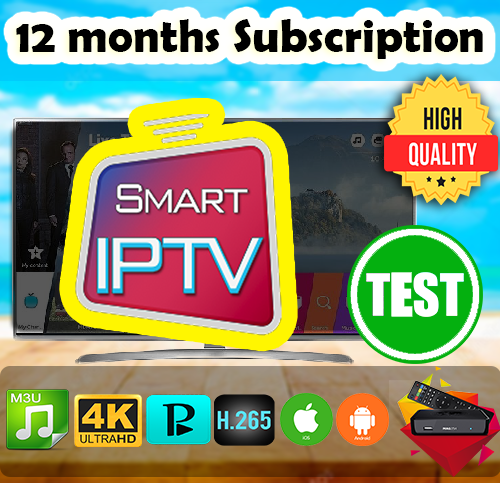 Smart IPTV subscription official 12 months subscription