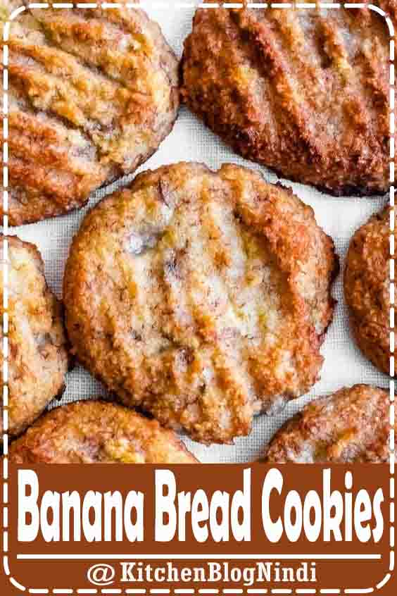 4.9★★★★★ | These easy vegan and paleo banana bread cookies are a delicious and healthy treat the whole family will enjoy. Their banana bread flavor is to die for! #BananaBread #Cookies
