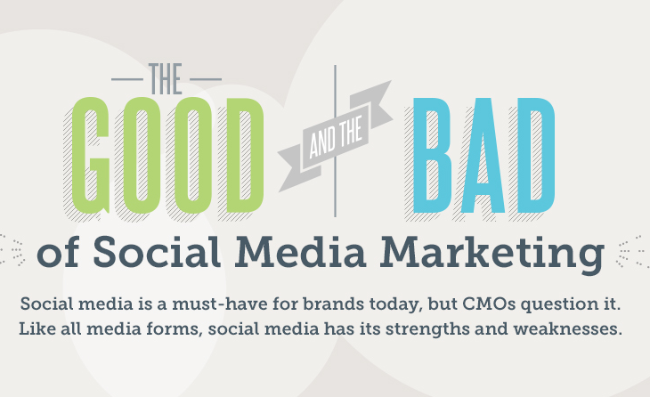 The Good and Bad of Social Media Marketing - #infographic