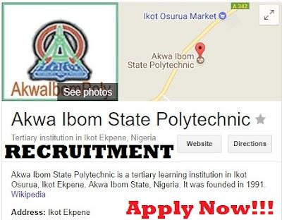 Akwa Ibom State Polytechnic Recruitment 2017 | Apply Now - Massive Job Recruitment