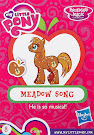 My Little Pony Wave 13A Meadow Song Blind Bag Card
