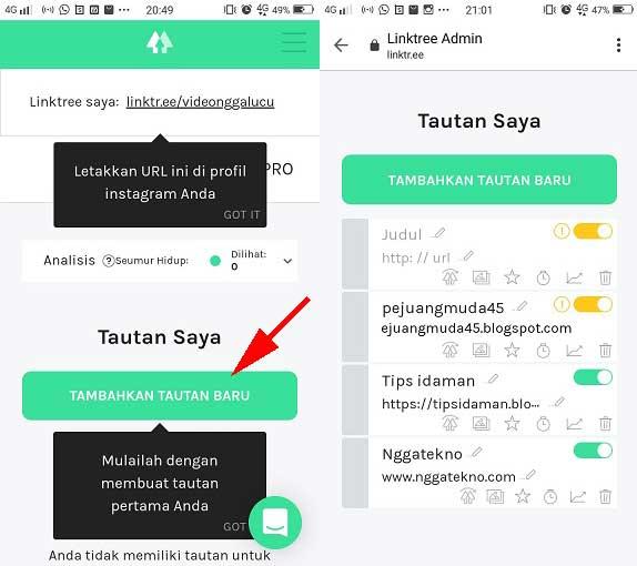 Cara Membuat Dan Menggunakan Linktree Di Aplikasi Instagram Nggatekno