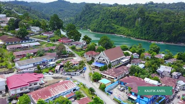 Foto Udara Kota Fakfak Papua Barat