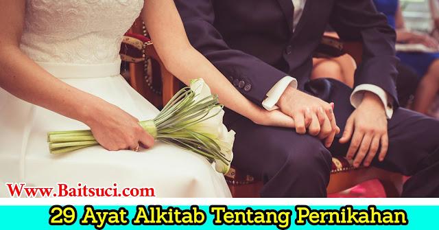 29 Ayat alkitab tentang Pernikahan