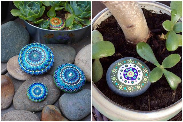 Entre plantas y macetas decora tu jard n pintando for Ideas para pintar piedras