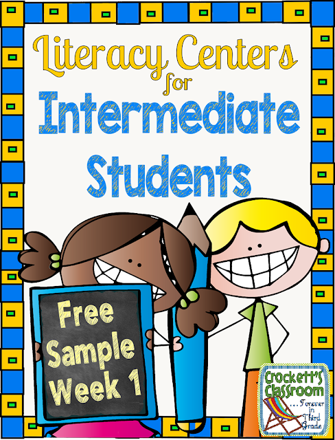 Intermediate Literacy Centers, Week 1 Free Sample,  Crockett's Classroom