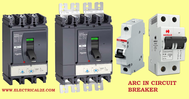 arc in circuit breaker, arc extinction, arc phenomenon, what is arc extinction @electrical2z