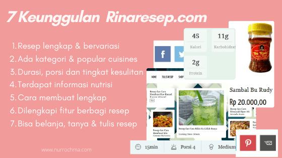 7 keunggulan rinaresep.com