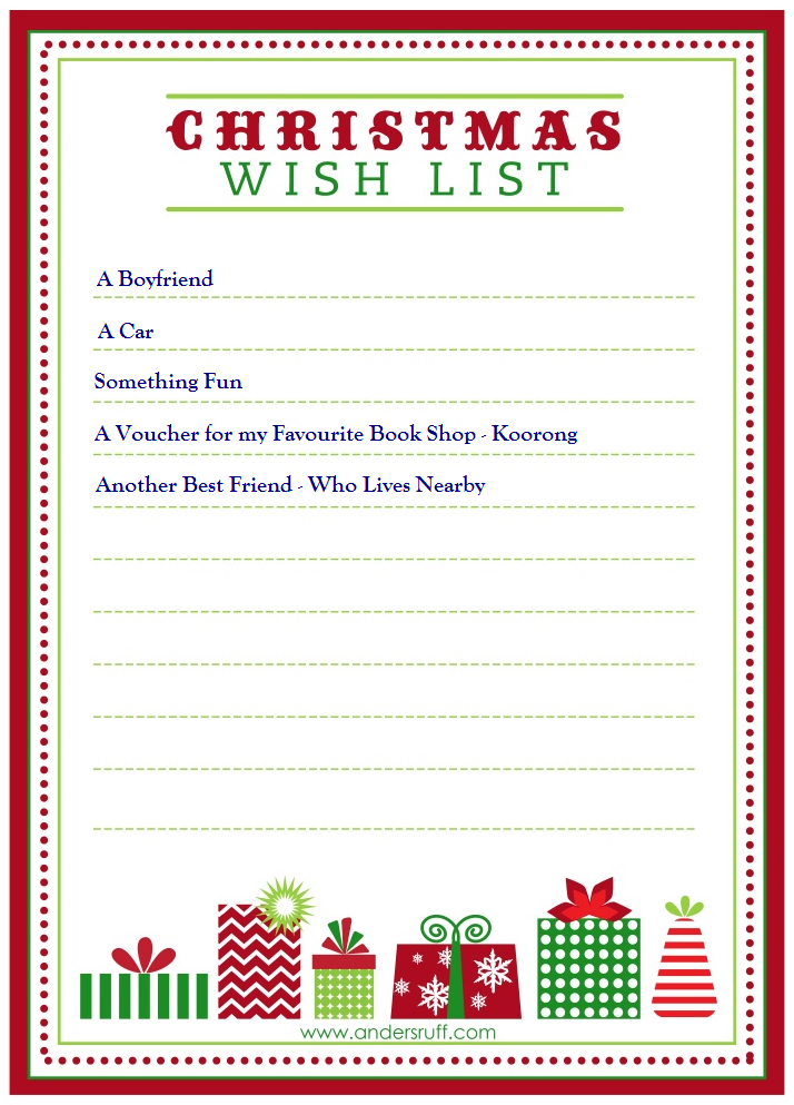 Doc35082480 Christmas Wish List Paper christmas list template – Christmas Wish List Template