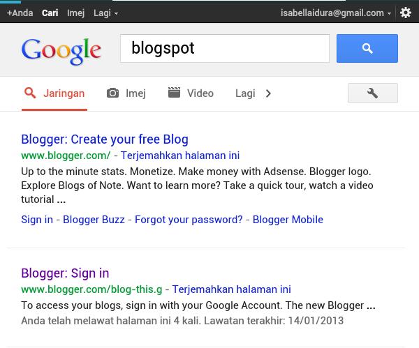 Macam mana nak buat blog baru