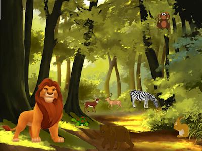 खरगोश और शेर की कहानी The Rabbit and the Lion hindi kahaniya