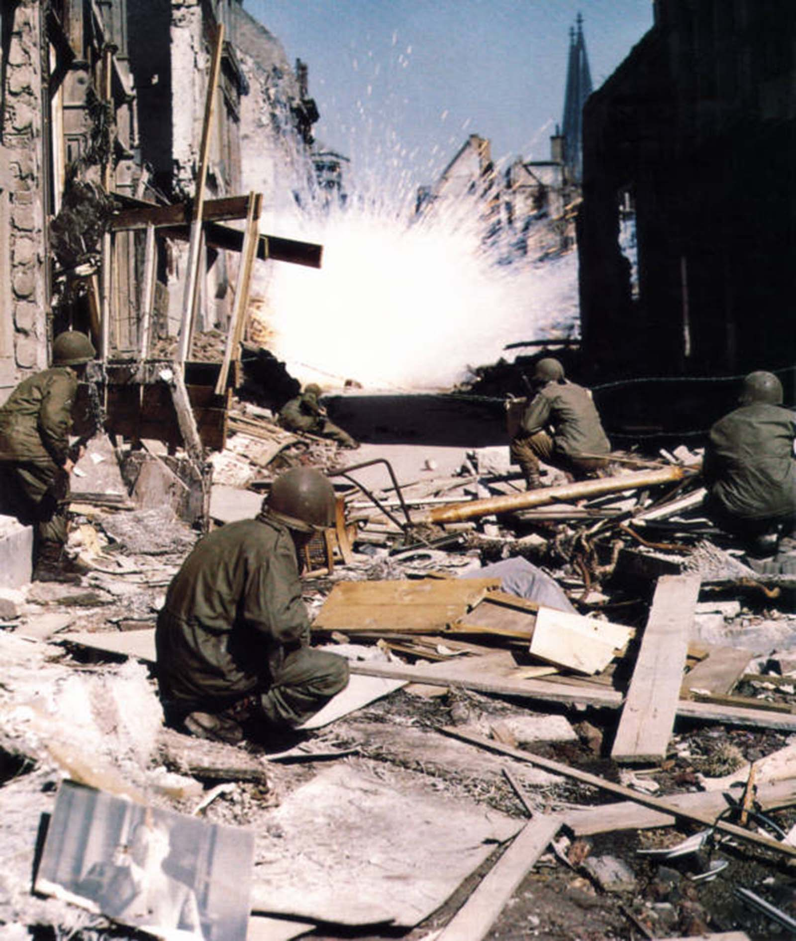 US troops in Cologne. 1945.