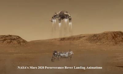 नासा मार्स 2020 रोवर लैंडिंग एनीमेशन पिक्चर