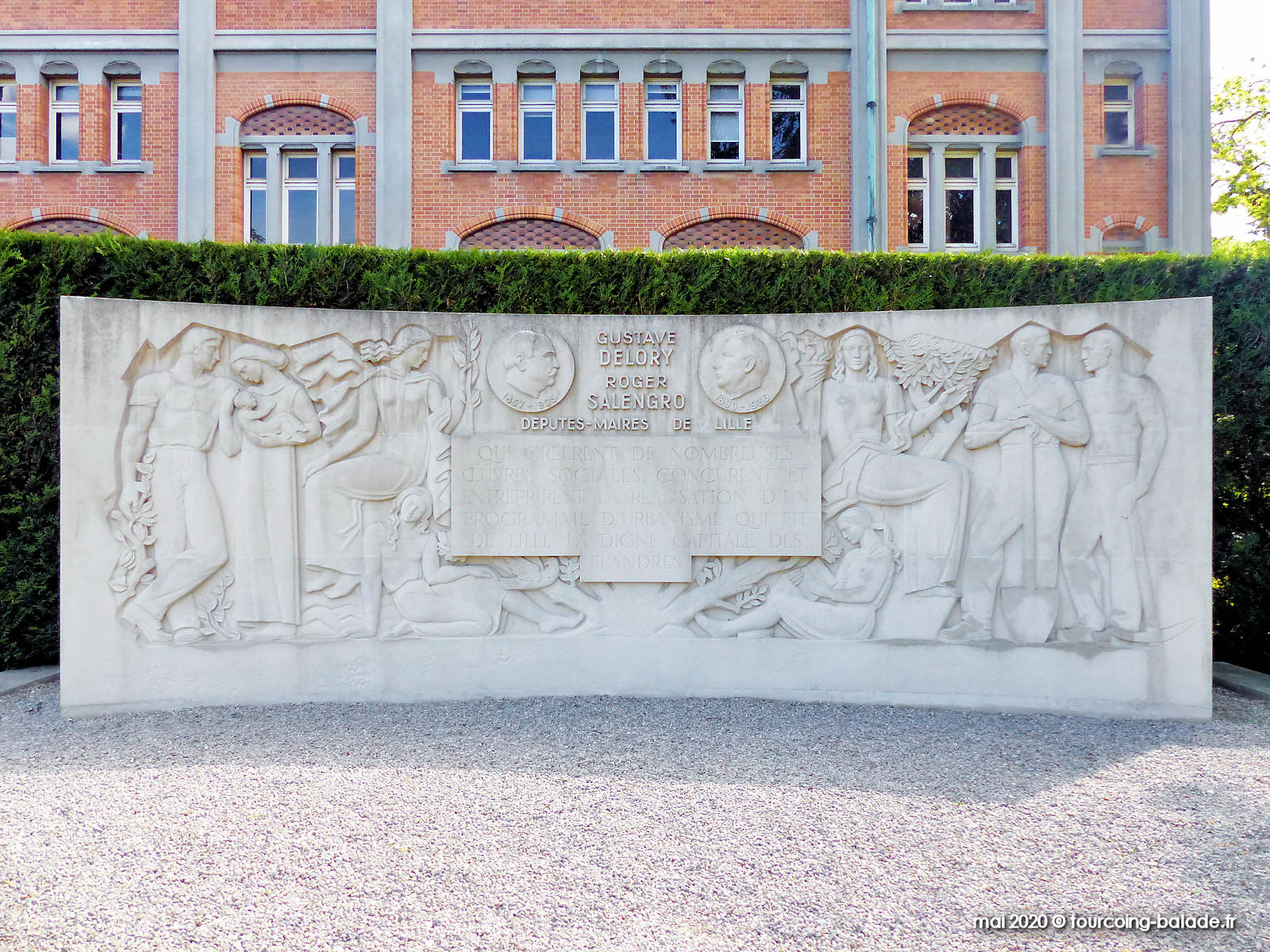 Monument Delory Salengro, Lille, 2020
