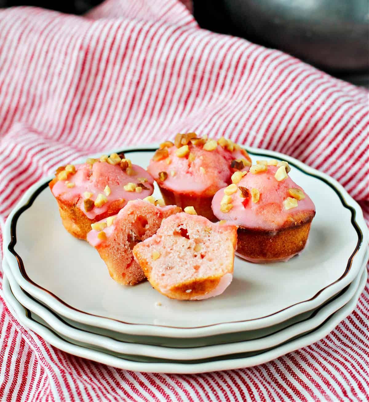 Maraschino Cherry Muffins interior.