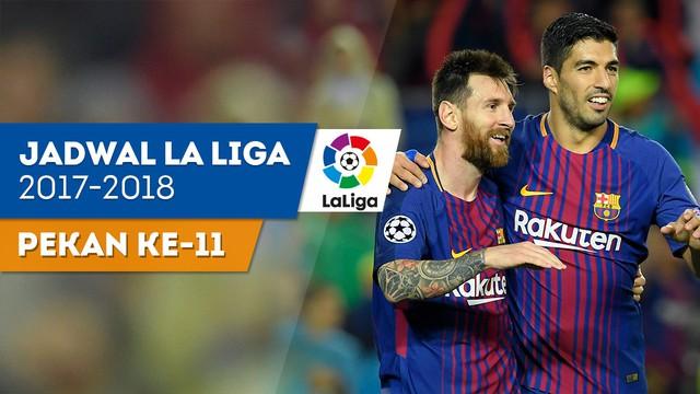 Jadwal Bola Liga Spanyol Pekan ke-11