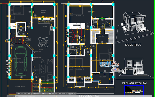 Housing familiar in AutoCAD