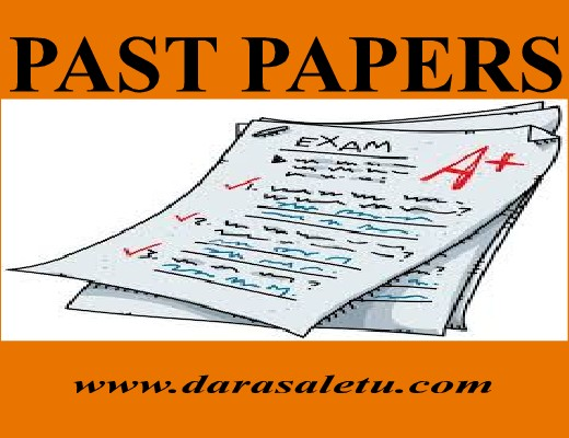 ENGLISH LANGUAGE: FREE PAST PAPERS CHECK OUT HERE  - DARASALETU MAKTABA