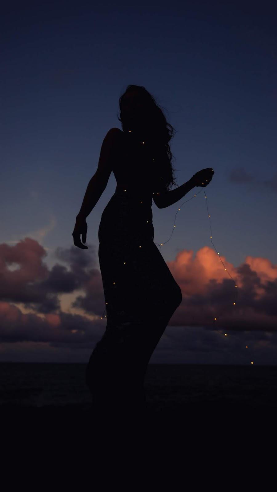 Silhouette of Dancing Woman by lelesfoto