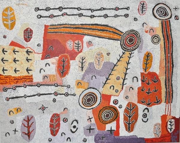 Artwork by Alec Baker, #44-18 - acrylic on linen | imagenes de obras de arte abstracto, pinturas, abstract paintings, art pictures, cool stuff.