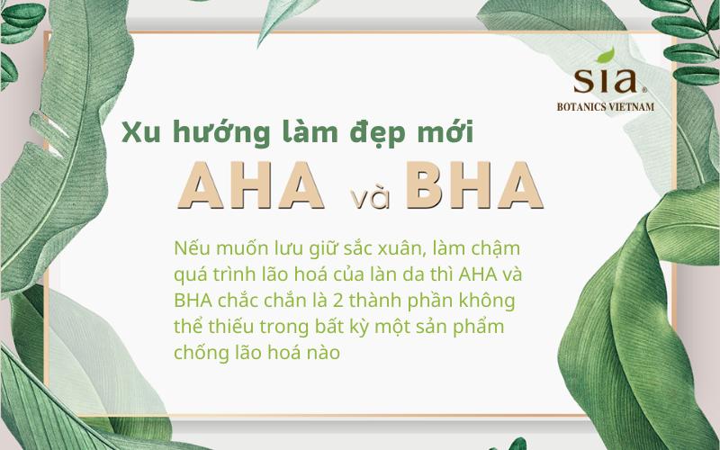 Xu hướng làm đẹp với AHA và BHA trong loại serum tốt nhất hiện nay