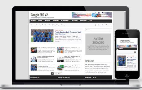 Google SEO V2 - Template Blog SEO Friendly Responsive Fast Loading