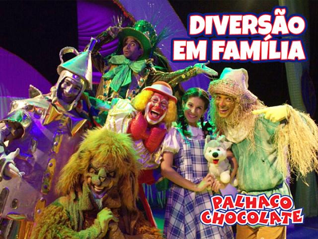O Mágico de Oz com o Palhaço Chocolate