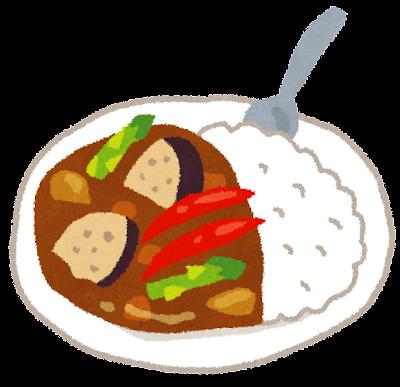 野菜カレーのイラスト